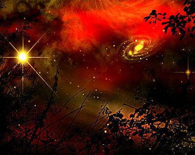 Gazing The Galaxy Art Print by Persephone Artworks