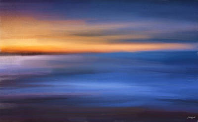 Turquoise Abstract Art Digital Art - Gazing The Horizon by Lourry Legarde