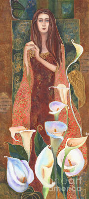 Gazing Where The Lilies Blow Art Print by Kate Bedell