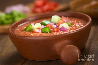 Tomato Puree Photograph - Gazpacho by Ildi Papp