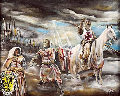 Sottish Painting - Gbh God Blood Honour by John Palliser