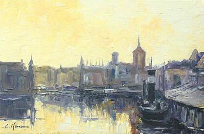 Gdansk Harbour - Poland Art Print