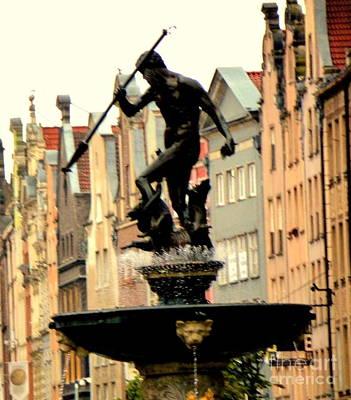 Photograph - Gdansk Poland Street Scene by John Potts
