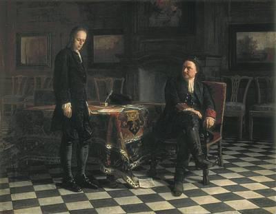 Confession Photograph - Ge, Nikolai Nikolaevich 1831-1894 by Everett