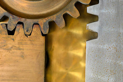 Gear Abstract Art Print by Bill Mock