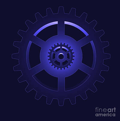 Pinion Digital Art - Gear - Cog Wheel by Michal Boubin