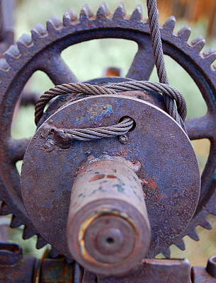 Photograph - Gear With Cable by Tamyra Crossley