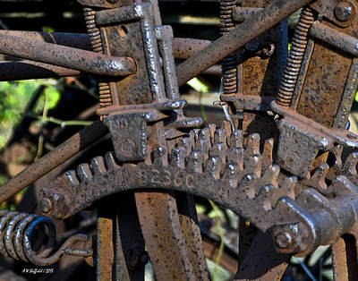 Photograph - Gears by Allen Sheffield