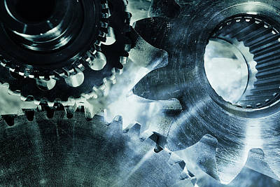 Gears And Cogwheels Art Print by Christian Lagereek