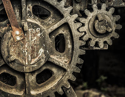 Photograph - Gears by Dave Chandre