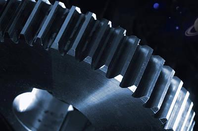 Gears Engineering In Space Art Print by Christian Lagereek