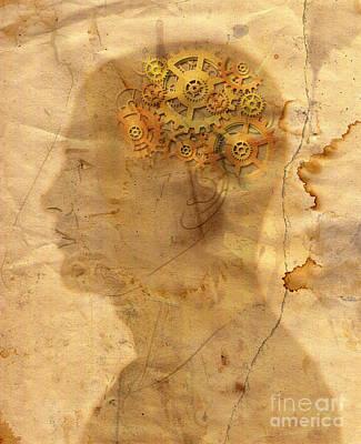 Gears In The Head Art Print by Michal Boubin