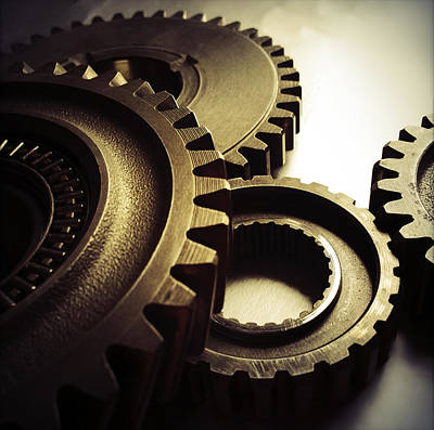 Machinery Photograph - Gears by Les Cunliffe