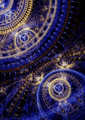 Machine Room Digital Art - Gears Of Time by Martin Capek