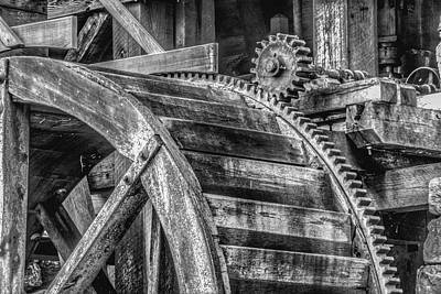 Yates Mill Photograph - Gears by Stephan  Herzog