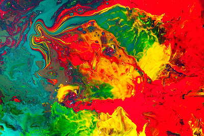 Gecko - Colorful Abstract Painting Art Print