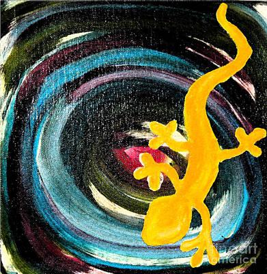Gecko Swirl Print by Satya Wimbish