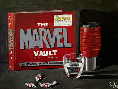 Painting - Marvel Comic's Still Life Acrylic Painting Art by Ai P Nilson