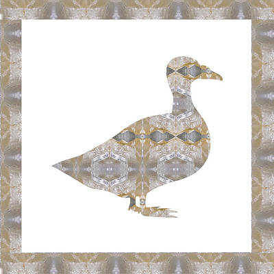 Zodiac Painting - Geese Bird Pet  Wild Exotic Crystal Stone Cutout Graphics Buy Or Download For Self Printing by Navin Joshi