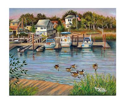 Geese In Hamilton Beach Art Print