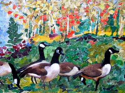 Canadian Geese Painting - Geese by Kim Determan