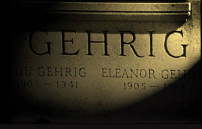 Photograph - Gehrig   Lou Gehrig  by Iconic Images Art Gallery David Pucciarelli