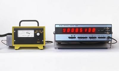 Geiger Counters With Digital Display Art Print by Dorling Kindersley/uig