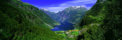 Norway Photograph - Geirangerfjord, Flydalsjuvet, More Og by Panoramic Images