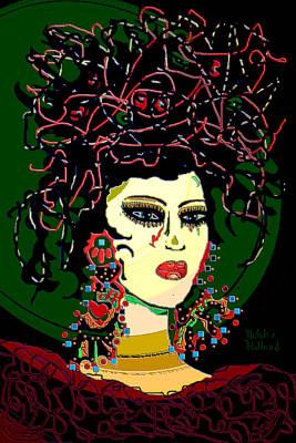 Hairstyle Mixed Media - Geisha 6 by Natalie Holland
