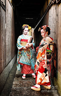Geisha Alley Art Print by John Swartz