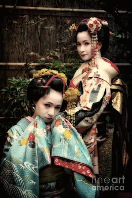 Art Print featuring the photograph Geisha Garden by John Swartz