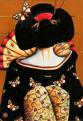 Japanese Geisha Girls Painting - Geisha Girl by Karin Taylor