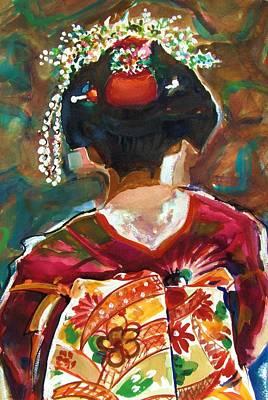 Geisha Girl Art Print by Therese Fowler-Bailey