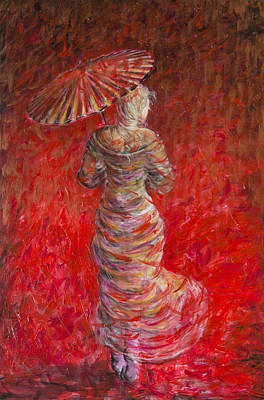 Painting - Geisha In Red by Nik Helbig