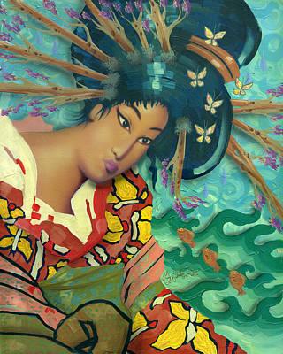 Geisha Art Print by Luis  Navarro