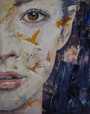 Eyelash Painting - Geisha by Michael Creese