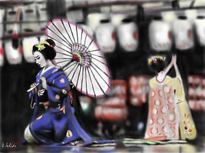 Geisha No.109 Art Print by Yoshiyuki Uchida