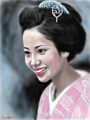 Geisha Digital Painting - Geisha No.123 by Yoshiyuki Uchida