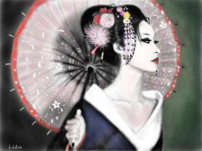 Geisha Digital Painting - Geisha No.151 by Yoshiyuki Uchida