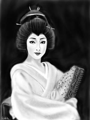 Painting - Geisha No.154 by Yoshiyuki Uchida