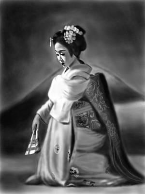 Painting - Geisha No.156 by Yoshiyuki Uchida