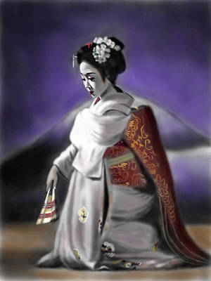Painting - Geisha No.157 by Yoshiyuki Uchida