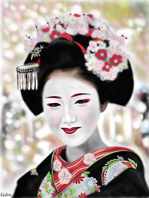 Geisha No.168 Art Print by Yoshiyuki Uchida