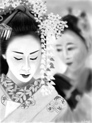Geisha Digital Painting - Geisha No.171 by Yoshiyuki Uchida