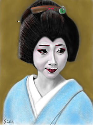 Geisha No.179 Art Print by Yoshiyuki Uchida