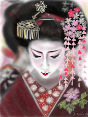 Geisha No.2 Art Print by Yoshiyuki Uchida