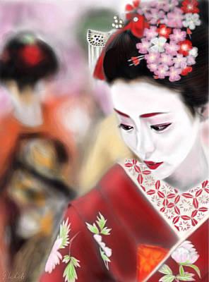 Geisha Digital Painting - Geisha No.23 by Yoshiyuki Uchida