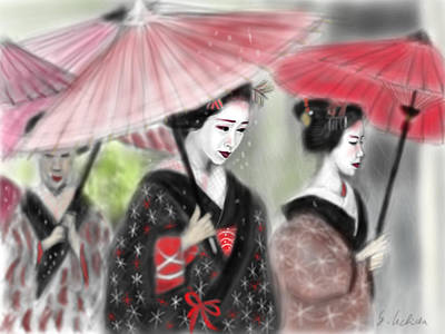 Geisha No.3 Art Print by Yoshiyuki Uchida
