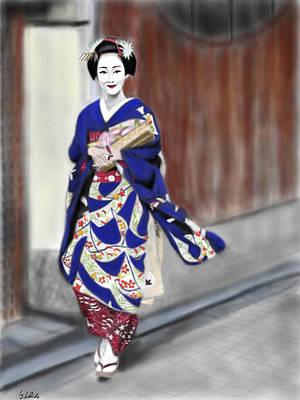 Geisha No.6 Art Print by Yoshiyuki Uchida