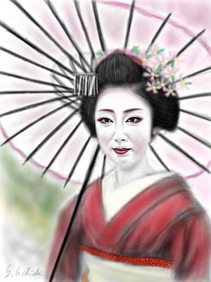 Geisha No.8 Art Print by Yoshiyuki Uchida